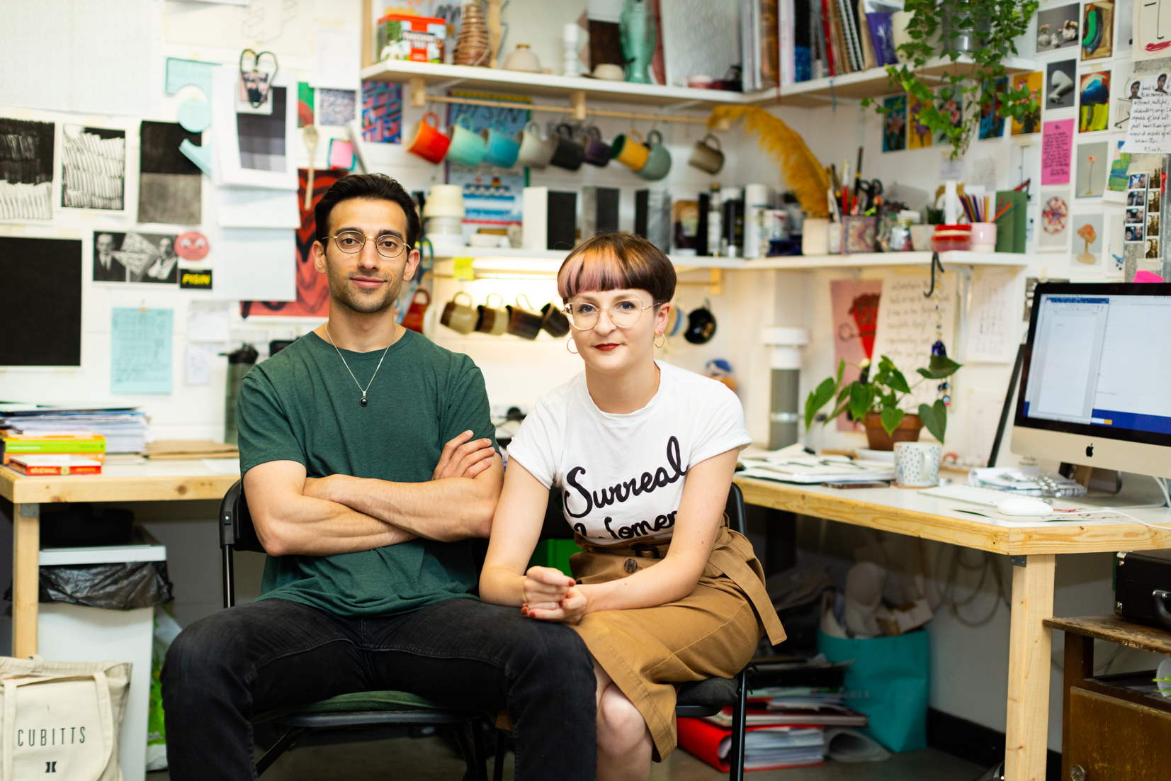 Artists in their studio at The Art House, Wakefield