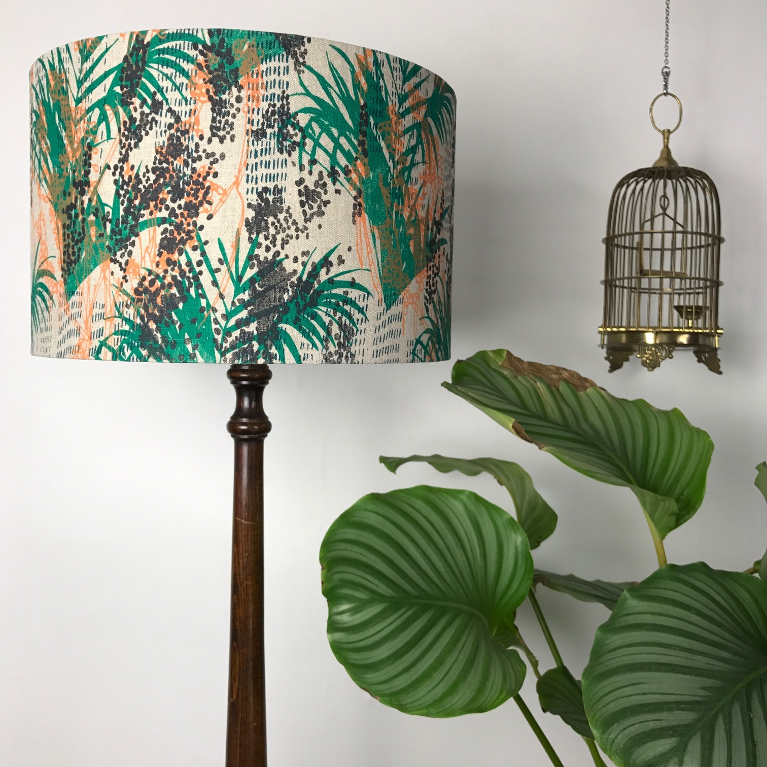 Hand screen printed lampshade by Ali Appleby