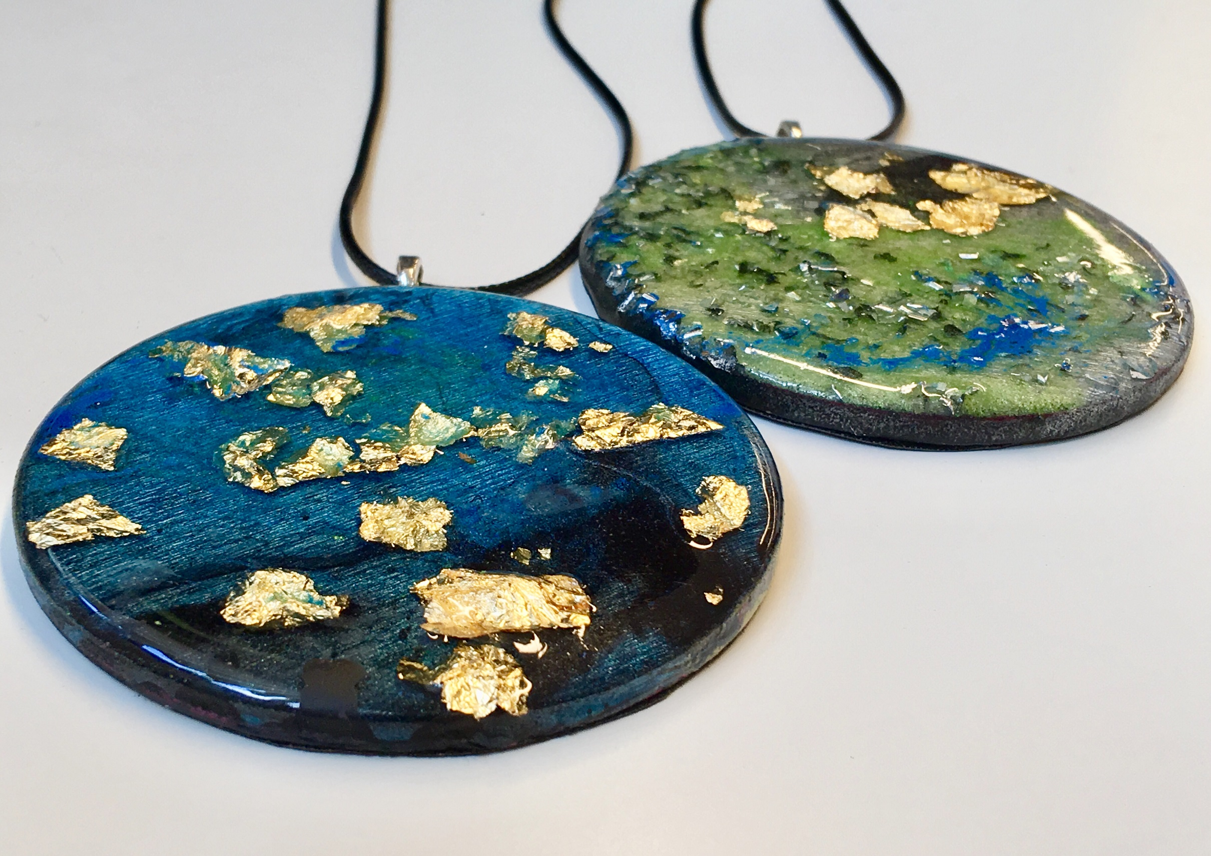 Pendant necklaces by Josie, on sale at The Art House Shop