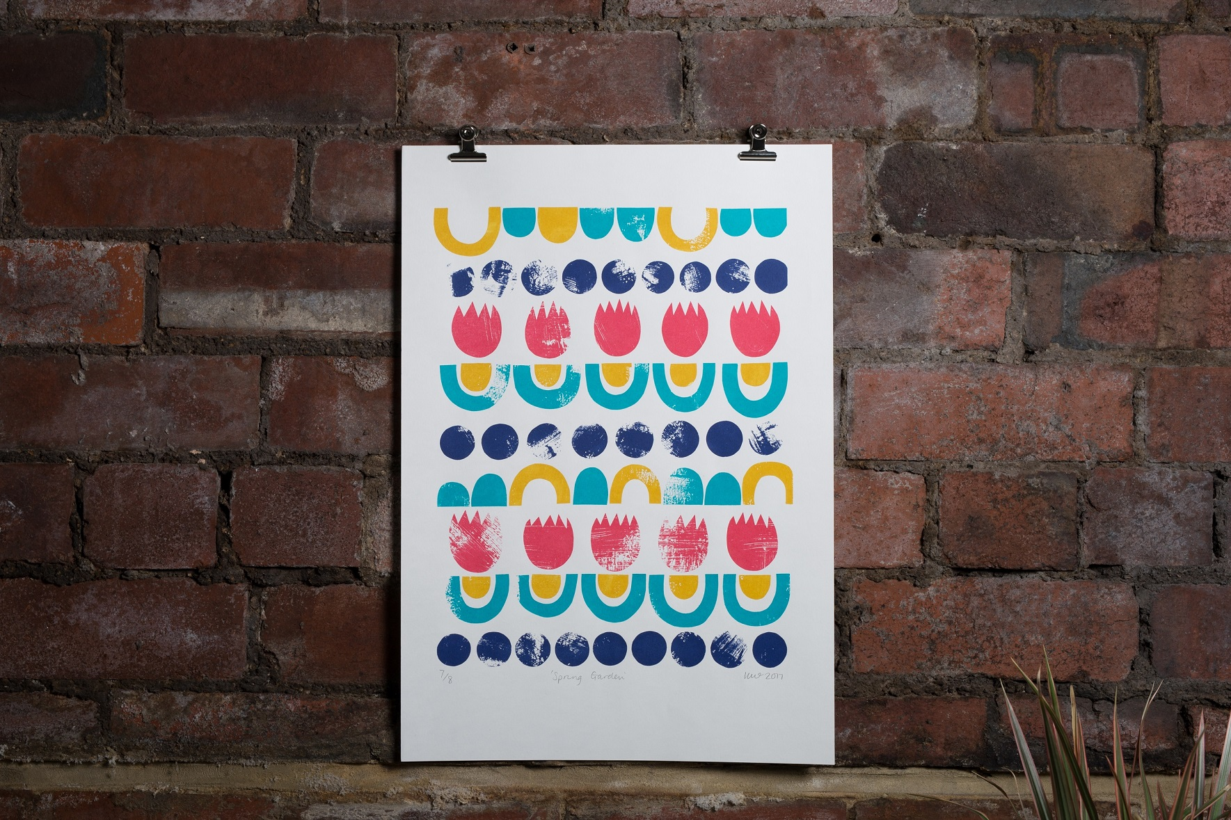 Spring Garden, Kirstie Williams, Screen Print