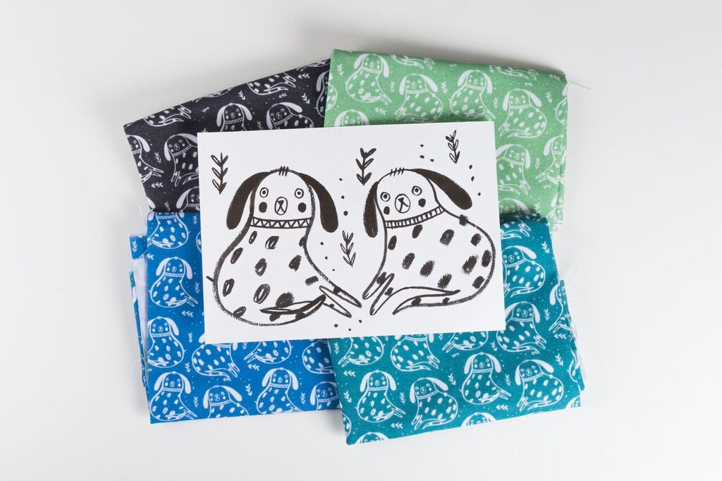 Jenna Lee Alldread, screen printed products available in The Art House Shop