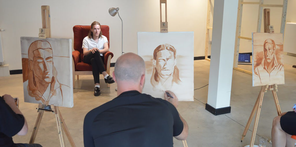 Portraiture in Pastel workshop at The Art House