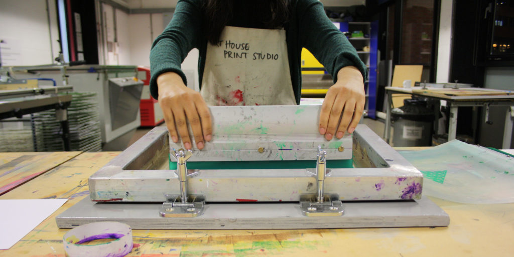 Screen Printing Photographs workshop at The Art House