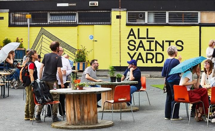 All Saints Yard, launch night July 2019