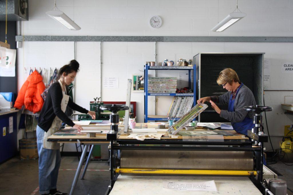 Screen printing workshop, The Art House, 2019
