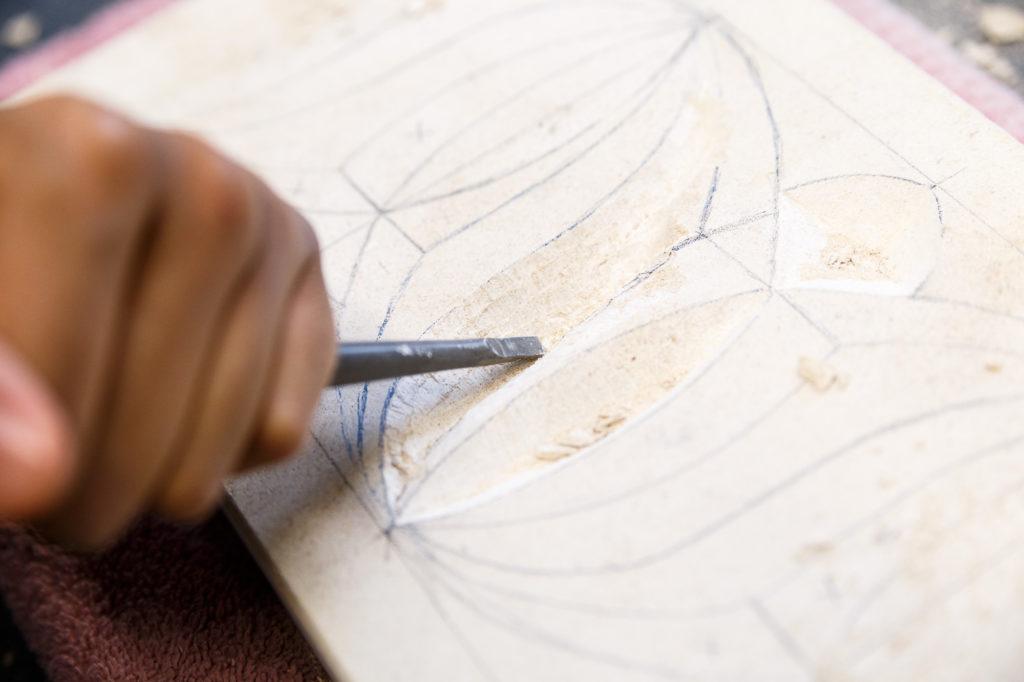 Salma Patel, Plaster Carving Workshop at The Art House 2020