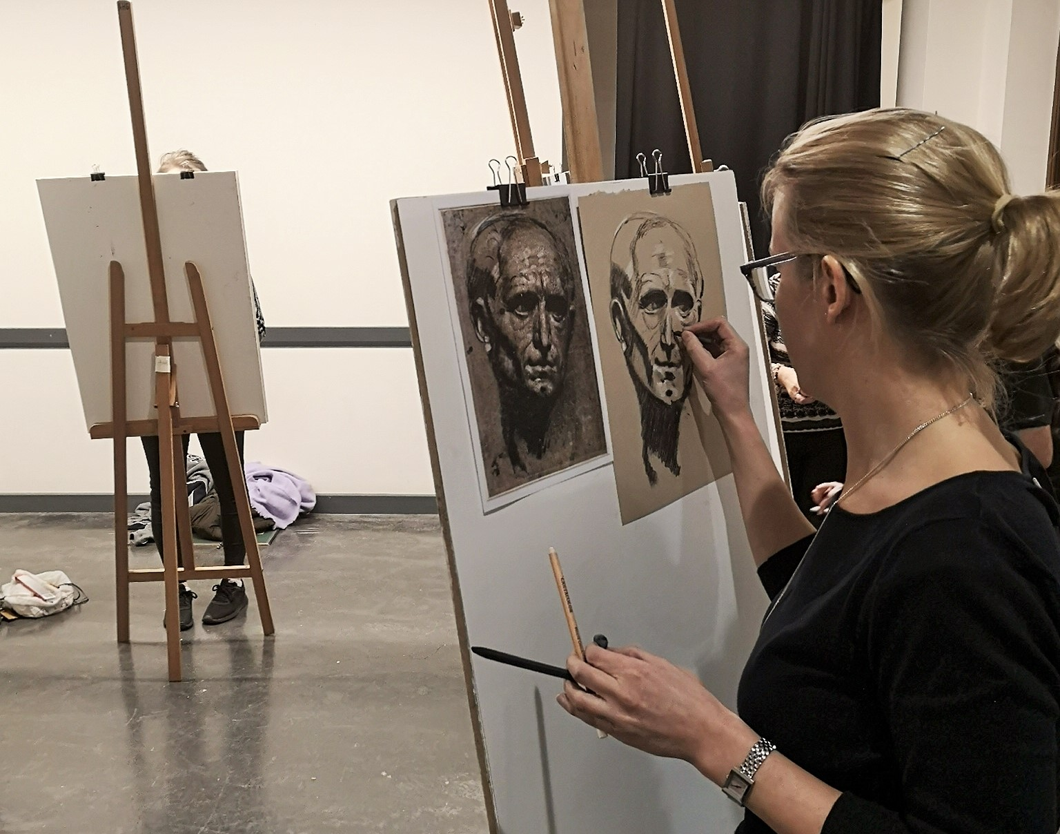The Portrait in Graphite & Charcoal: Six Week Course