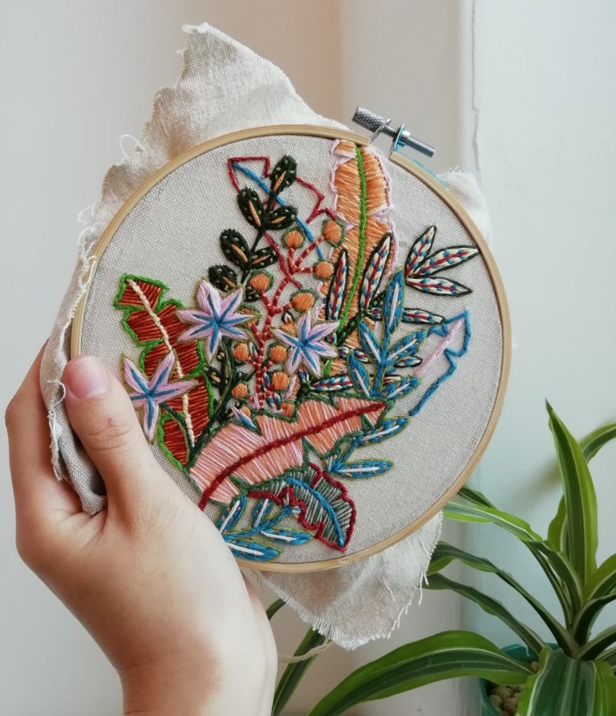 Botanical Embroidery workshop at The Art House