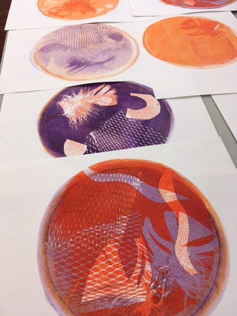 Pop Arts Gelli Printing workshop at The Art House