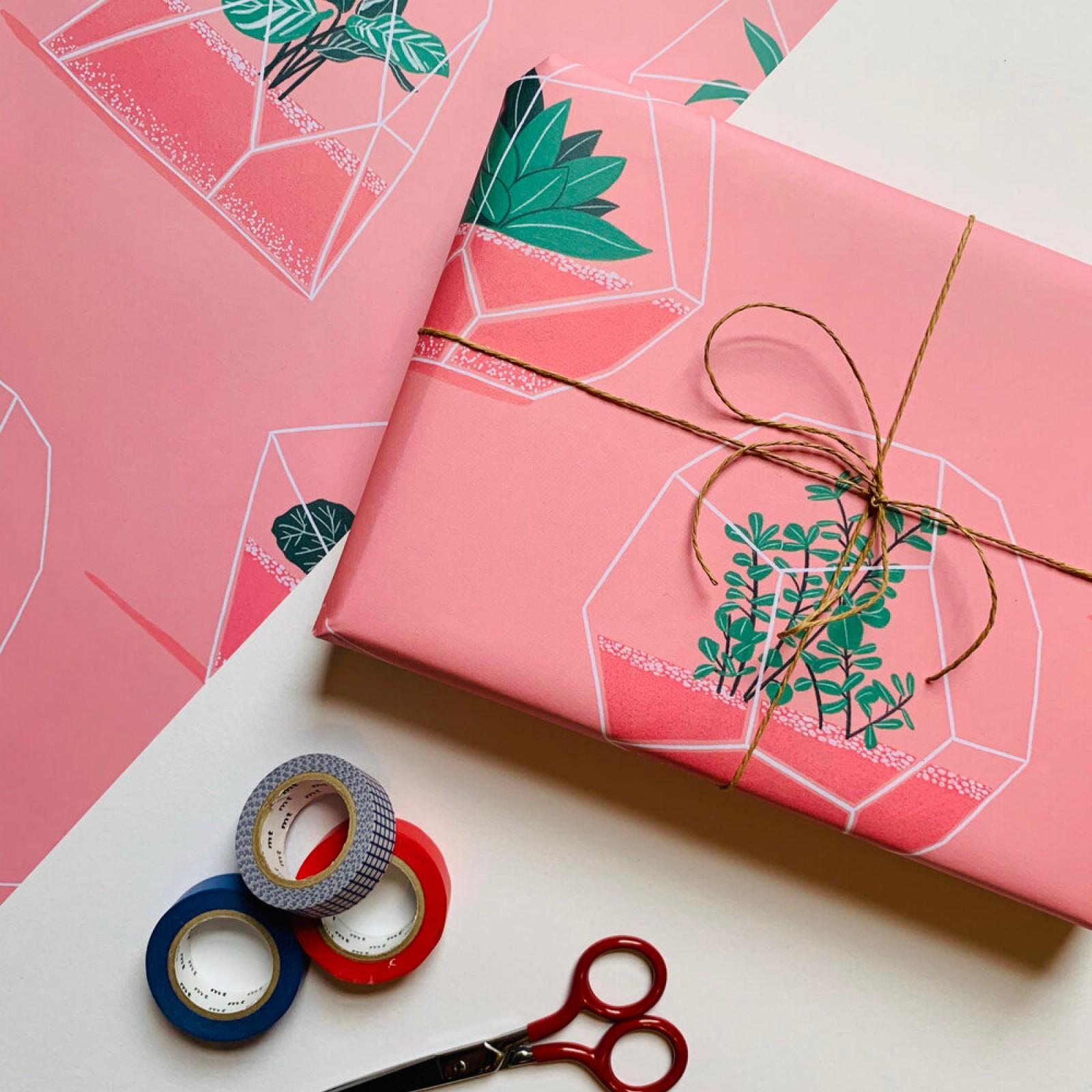 Malmade - Terrarium Wrapping Paper